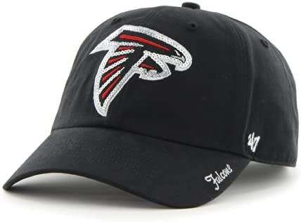 4874e7e00eb NFL Atlanta Falcons Women s  47 Brand Sparkle Team Color Clean Up  Adjustable Hat