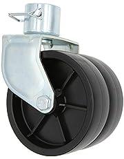 PeakTow PTJ0304 2000 Lbs Capacity Dual Trailer Swirl Jack Caster Wheel