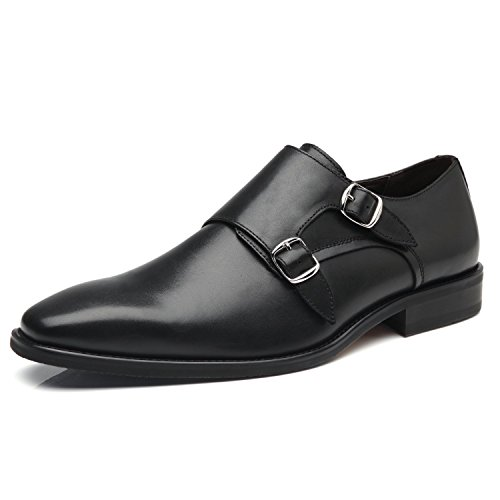 La Milano Mens Double Monk Strap Slip On Loafer Leather Oxford Formal Business Casual Comfortable Dress Shoes for Men by La Milano