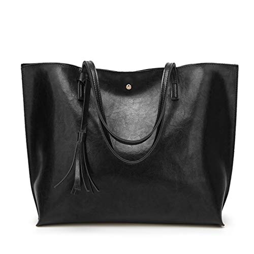 Black Satchel Handbag - 7
