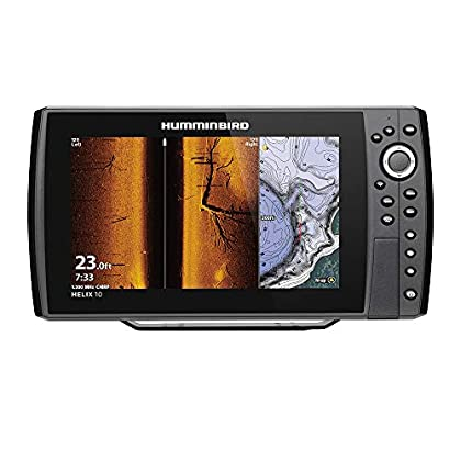 Image of Humminbird Helix 10 G3N Fish Finder with Chirp, MEGA SI+, GPS, and 10.1-Inch-Display