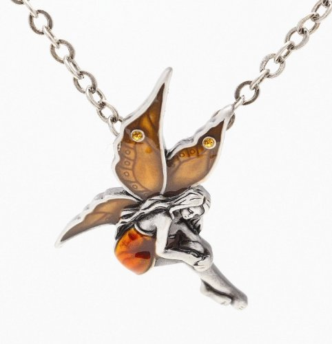 Fairy necklace jewelry faerie pendants mystical collection fairy necklace more colors aloadofball Images