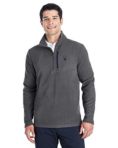 Spyder Men's Transport Quarter-Zip Fleece Pullover XL Polar/Frontier