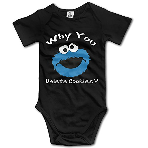 WHY YOU DELETE COOKIE MONSTER Baby Cool Newborn Clothes Triangle Romper (Cookie Monster Headband)