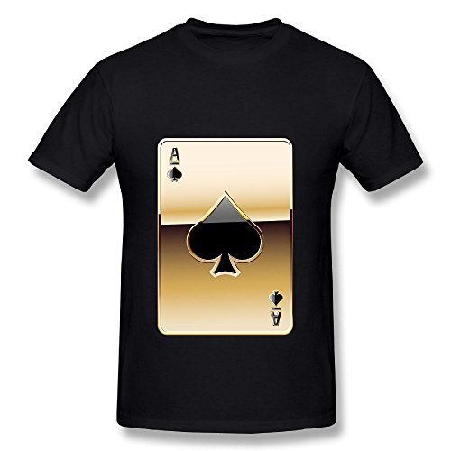Fanz Men's Gold Poker Gamblers Face Decent Spade Miracle T Shirts 4XL - Square Texas Face