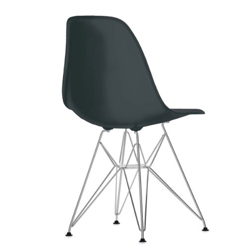 Vitra 440022000201 Eames Plastic Side chair DSR basic dark Untergestell verchromt, 810 x 465 x 550 mm