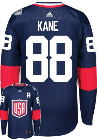 Patrick Kane Team USA World Cup Of Hockey Adidas Premier Home Jersey