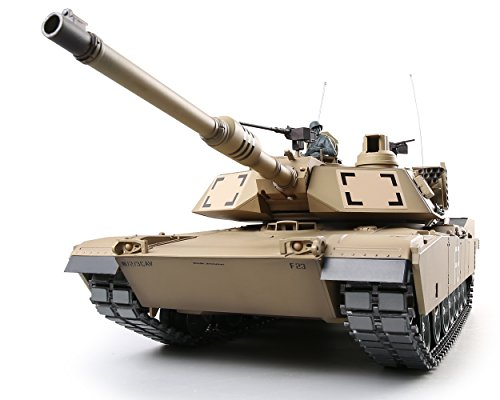 Heng Long RC Tank 1:16 US Army M1A2 Abrams Main Battle Tank, Remote Control 2.4Ghz RC Tanks That Shoot Airsoft BBS, Standard Edition