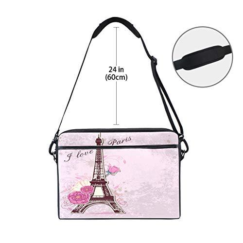 ed80c3aca7ee Amazon.com: TropicalLife Laptop Bag I Love Paris Eiffel Tower ...