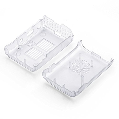 Raspberry Pi 3 Fan Case, Aukru Clear Case with Cooling Fan Heatsink for Raspberry Pi 3 Model B Accessories Pi 2 Model B + Desktop Starter Kit (Transparent Case, Cooling Fan, Heat sink) by Aukru (Image #1)