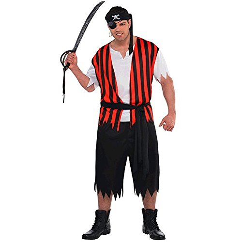Amscan Adult Ahoy Matey Pirate Costume Plus Size