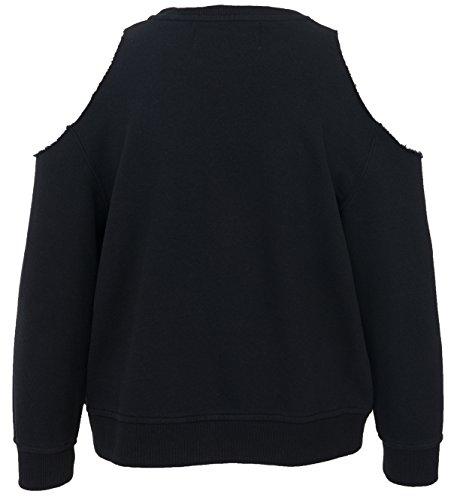 5Preview - Sweat-shirt - Femme Noir Noir