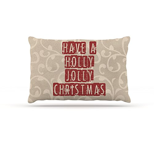 30 by 40\ Kess InHouse Sylvia Cook Have A Holly Jolly Christmas  Holiday Fleece Dog Bed, 30 by 40
