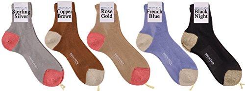 All Five Colors Bresciani Silk Road Sexy Shimmery Shorty Glitter Socks Size L/XL by Bresciani 1970