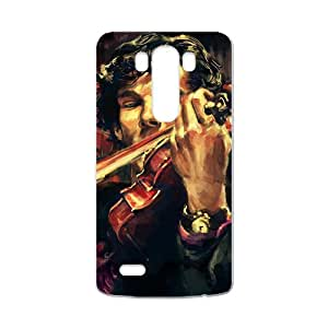 Benedict Cumberbatch Custom Sherlock Poster Phone Case Cover Protection for LG G3 Case(White)