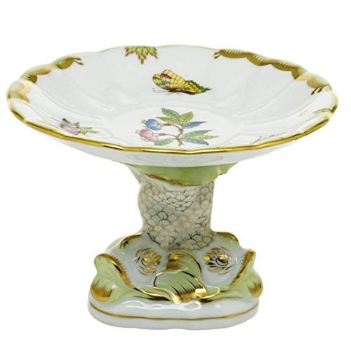 Herend Shell With Dolphin Stand Queen Victoria