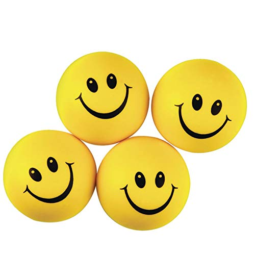 S&S Worldwide Smile Face Stress Balls (Pack of 24)