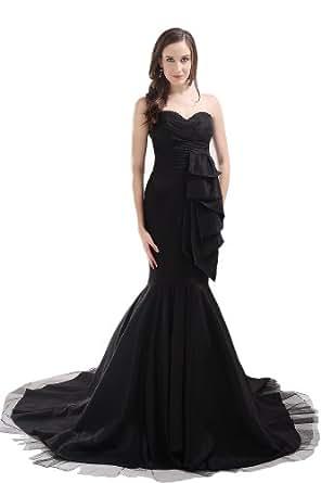 Dlass Sweetheart Mermaid Long Prom Dresses 2014 Black