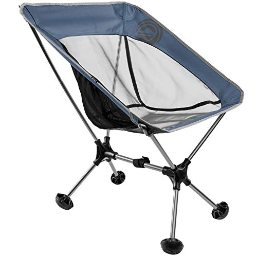 WildHorn Outfitters Terralite Portable Camp / Beach Chair (Supports 350 lbs) with TerraGrip Feet - Red