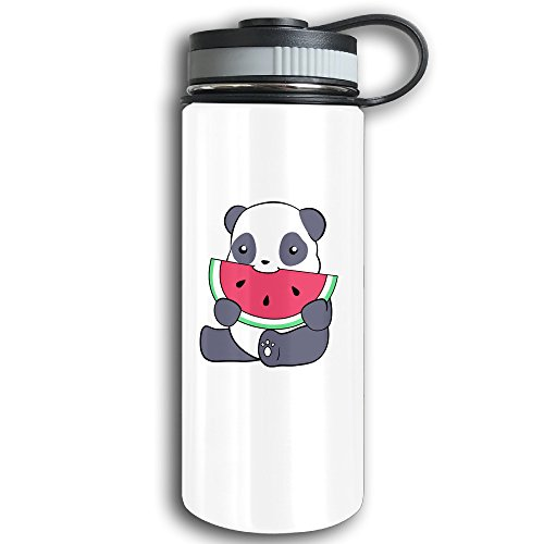 Mens Double Act Costumes (Stainless Steel Sports Water Bottle, Double Wall Vacuum Insulated Panda And A Watermelon Flask Bottle – Leak & Sweat Proof Flask - Cold/Hot Drinks For 12 Hours)