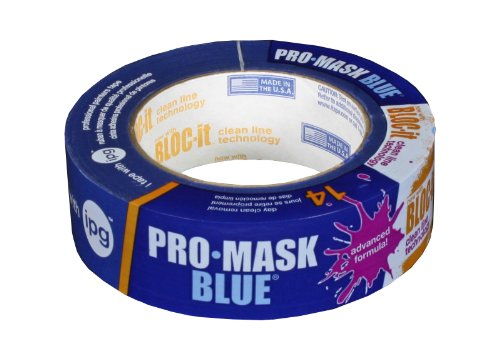 Intertape Polymer Group 9532-1.5 ProMask Blue with Bloc-it Painters Tape 1.41-Inch x 60-Yard
