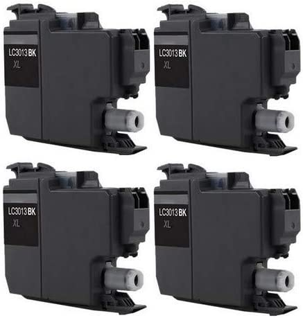 SuppliesMAX Compatible Replacement for Brother DCP-J572//J772//J774//MFC-J491//J497//J690//J890//J895DW Black High Yield Inkjet 4//PK-400 Page Yield LC-3011BK/_4PK