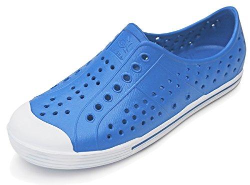 101 BEACH Teen Boys Men Water Sneakers Slip On Clog Blue VEh9Q