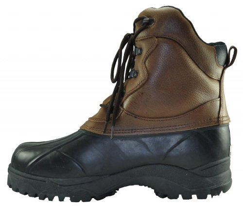 Mens 10 Hög Äkta Toppen Grain Läder Dupont Thermo ™ Isolerade Vandrare Boot Mörkbrun
