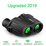 10X25 Binoculars Compact, High Power Mini Binoculars with Carry Bag and Neck Strap, Waterproof HD Folding Binoculars for Adult, Bird Watching, Travel Outdoor Hiking Camping Hunting Concert Opera Sport