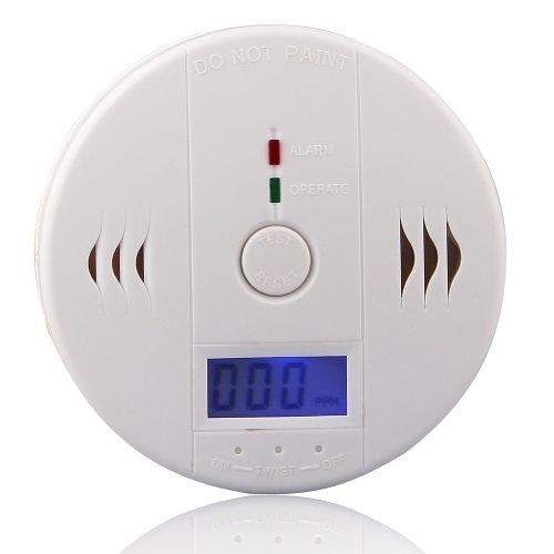 Eleoption Co Melder,Gas Warner,Rauchmelder,Gasmelder,Kohlenmonoxid-Melder mit LED Anzeige/elektronischem Sensor Lebenserwartung bis 5 Jahre