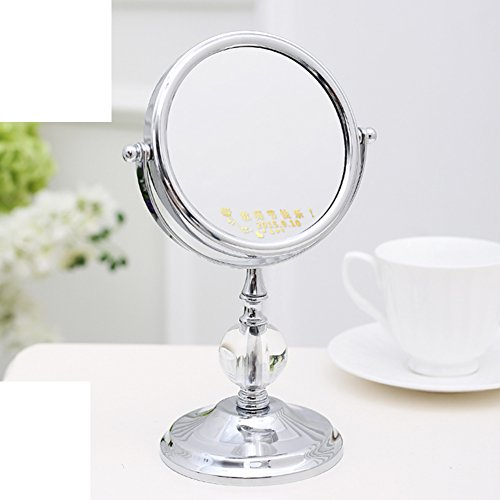 - MYITIAN 5Inch Upgrade Crystal Ball Mirror Tabletop Makeup Mirror Two-Sided Dressing Mirror The Princess Portable Mirror 3[Times Magnifying Mirror]-B