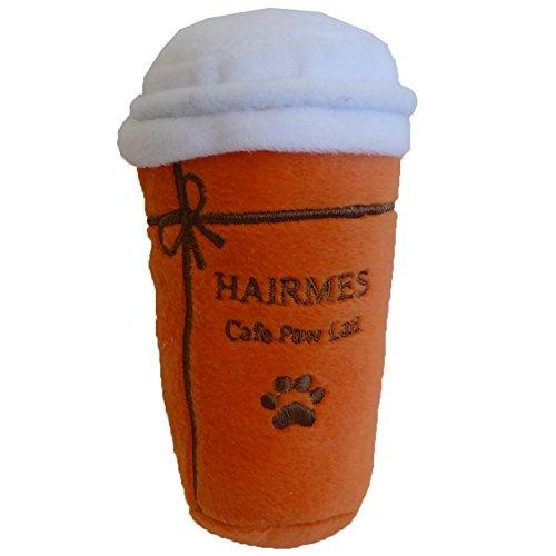 Dog Diggin Designs Nouveau Haute Coffee Station Collection | Unique Squeaky Plush Dog Toys - Baristas Needed! (Hairmes Cafe Paw Lait)