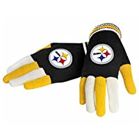 NFL Football 2014 Multi Color Team Logo Knit Gloves - Pick Team (Pittsburgh Steelers)