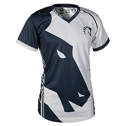 Team Liquid Men's 2017 eSports Player Jersey (Light) (White/Blue, Medium)