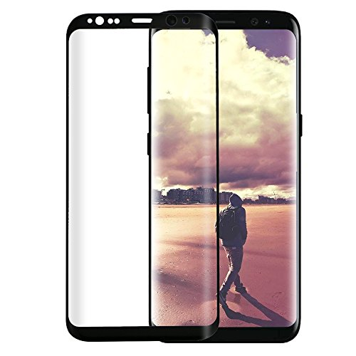 Philonext Screen Protector for Samsung Galaxy S8 Plus - 3D Full Coverage Curved Edge Ultra Clear 9H Hardness Scratch Proof Tempered Glass Screen Protector for Samsung S8 Plus - Black