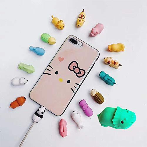 Tiburon Ballenas Demarkt Protector de Cable para iPhone Dise/ño de Animales Protector Cubre para Celular Universal Electronics Accessoriesprotecci/ón para tel/éfono//Apple//iPhone//iPad