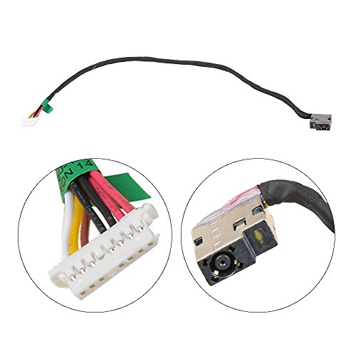 Eathtek Replacement DC Power Jack Harness Cable for HP 15-AC 15-AC113CL 15-AC121DX series, Compatible part number 799736-S57 (Hp Dc Power Jack)