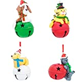 Christmas Jingle Bells Dogs and Cats Ornament Set of 4