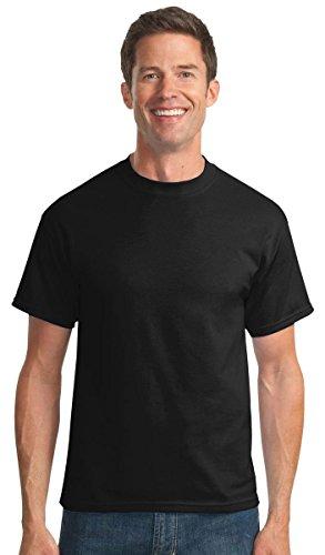 Port & Company Men's Tall 50/50 Cotton/Poly T Shirts LT Jet (Standard Poly Jet)