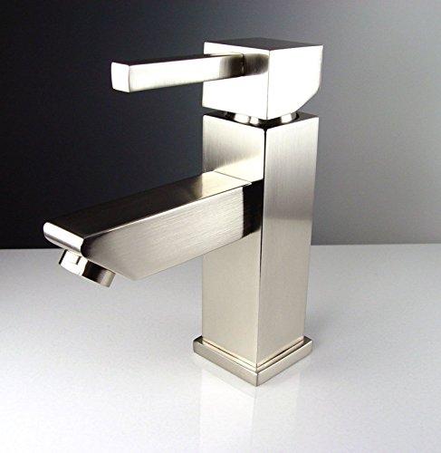 """Fresca FVN5082WH-FFT1030BN Coda Modern Corner Bathroom Vanity, 14"""", White - Dimensions of Vanity: 14""""W x 14""""D x 34""""H Materials: MDF Cabinet, Acrylic Countertop/Sink with Overflow Soft Closing Door - bathroom-vanities, bathroom-fixtures-hardware, bathroom - 41CjSIz7oZL -"""