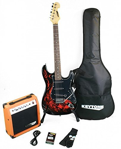 KEYTONE de St Style Guitarra eléctrica Set Tribal Deluxe con amplificador & accesorio