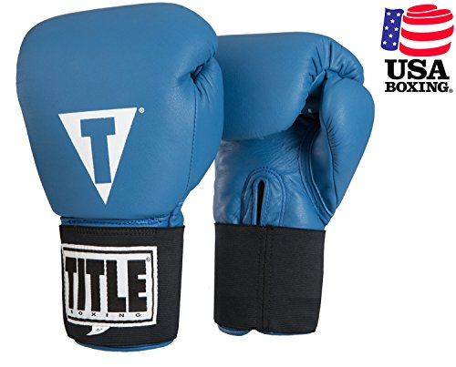 TITLE Masters USA Boxing Competition Gloves (Elastic), Blue, 16 oz