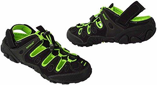 Herren Outdoorsandale Schuhe Trekking Sandale Gr.41 - 46 Art.-Nr.5337 schwarz-apfel-grün