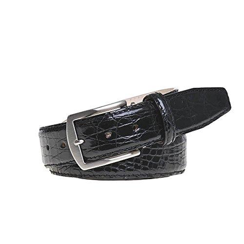 Black Crocodile Leather Belt by Roger Ximenez: Bespoke Maker of Fine Leather Goods