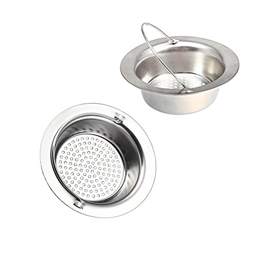 Daixers 2 Pack 4.3 Inch Kitchen Garbage Sink Strainer Heavy-Duty Stainless