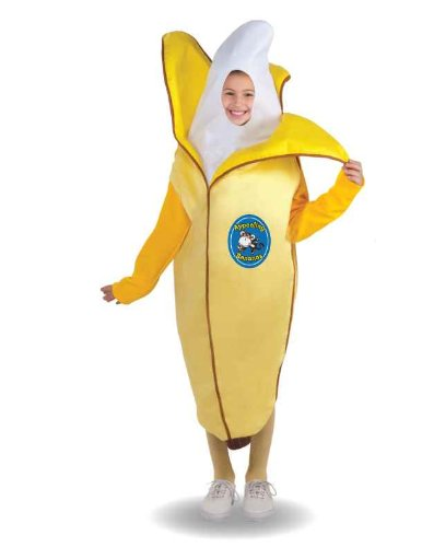 Forum Novelties Fruits and Veggies Collection Appealing Banana Child Costume, (Group Of 4 Halloween Costumes)