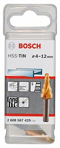 Bosch 2608587429 Hss-Tin Step Drill Bit 5 Parts 4-12mm