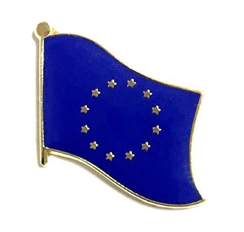 Pack of 3 European Union Single Flag Lapel Pins, EU Tie & Hat Pin Badges (Georgia Lapel Pin)