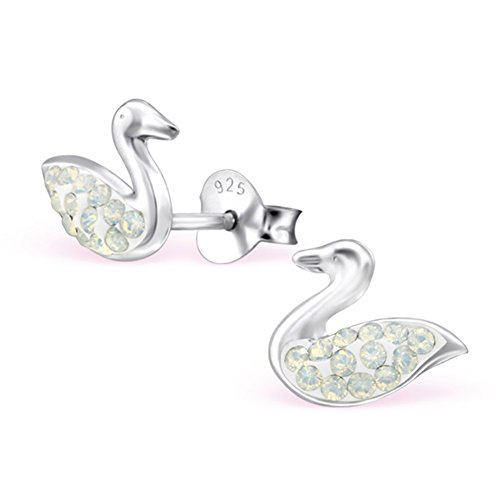 E24393 6mm Round Swarovski Crystal Studs Earrings Stering Silver 925
