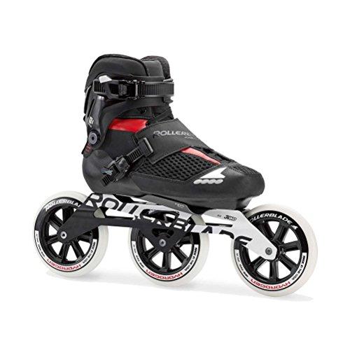 (Rollerblade Endurace Pro 125 Unisex Adult Fitness Inline Skate, Black and Red, Premium Inline)